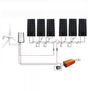 Solar Wind Hybrid 1.3KW Kit