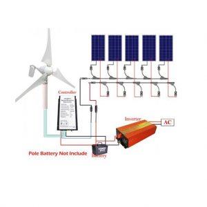 Solar Wind Hybrid 900W Kit