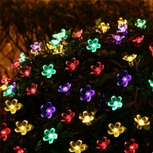 Solar Flower Christmas Lights